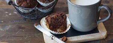 Muffins de chocolate tibio, receta para chocoadictos