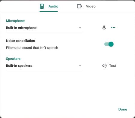 Google Meet Noise Cancelling
