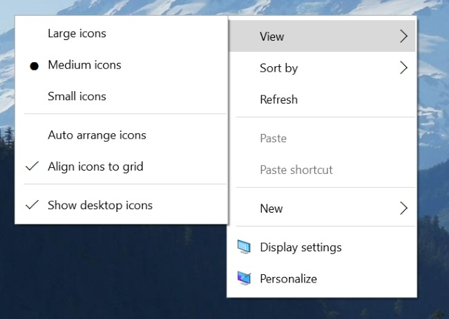 New Contextual Menu Win10