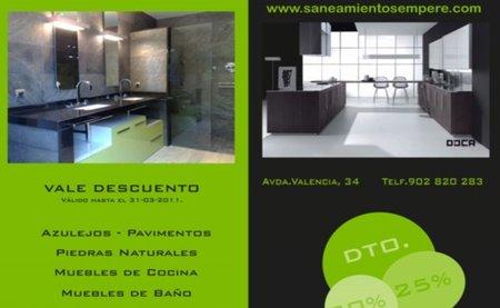 Saneamientos Sempere con grandes descuentos en materiales de baño y cocina