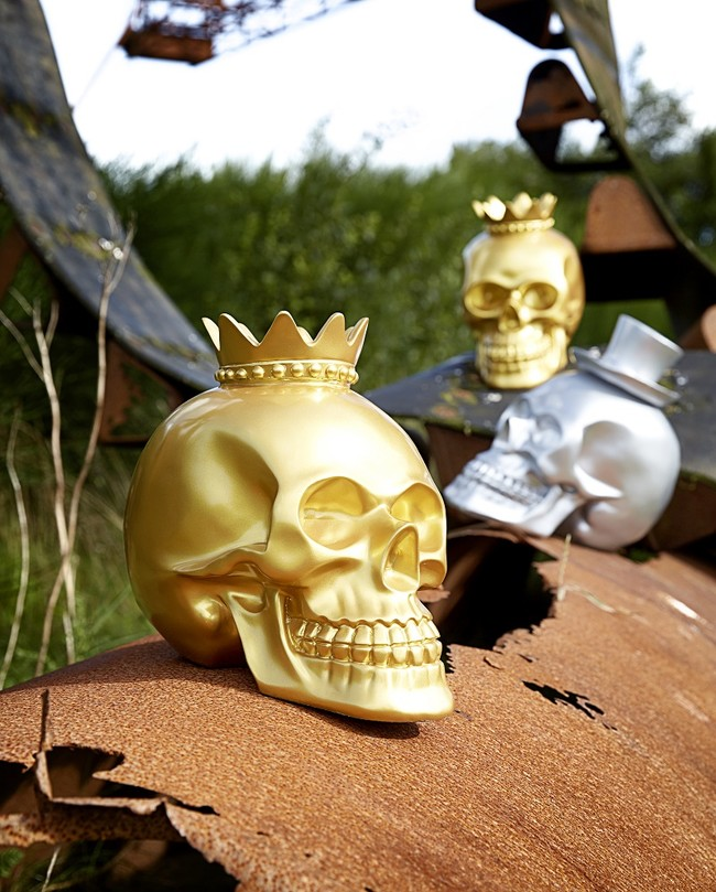 The Kings Head Gold Skull