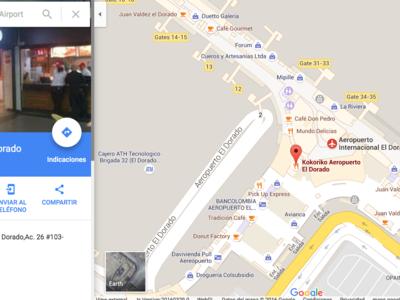 Visita el interior de seis aeropuertos colombianos con Google Maps
