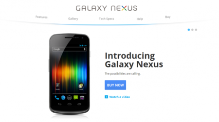 Galaxy Nexus, vídeo promocional y unboxing