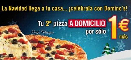 Domino´s nos ofrece la segunda pizza por solo 1 Euro