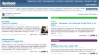 Spotback, contenidos agregados on-line