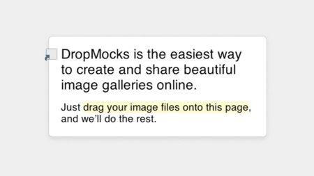DropMocks: Algo más simple para compartir imágenes es imposible