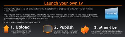 Vpod.tv te permite crear tus canales y sacar dinero con ello