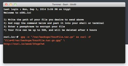 Curl.io, porque compartir archivos usando interfaces gráficas está sobrevalorado