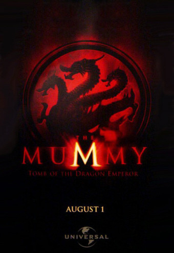 Teaser póster de 'The Mummy: Tomb of Dragon Emperor'