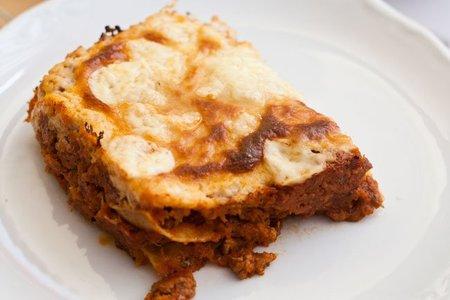 Receta de lasaña con bechamel sin lactosa
