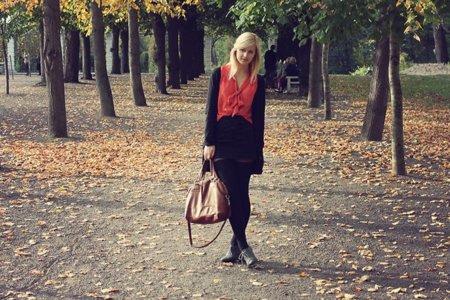 Blusa roja Moda en la calle