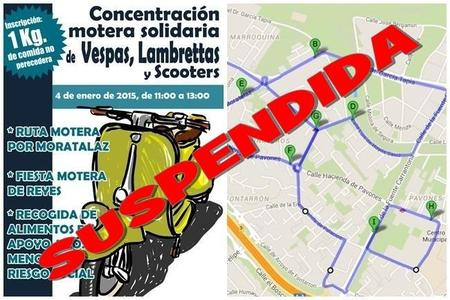 Suspendida la Concentración Motera Solidaria de Vespas, Lambrettas y Scooters en Madrid
