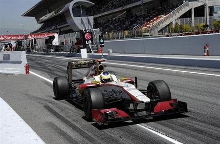 HRT queda detrás de Marussia y Narain Karthikeyan fuera del 107%