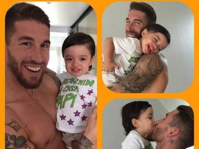 Sergio Ramos ya está en casa con la family