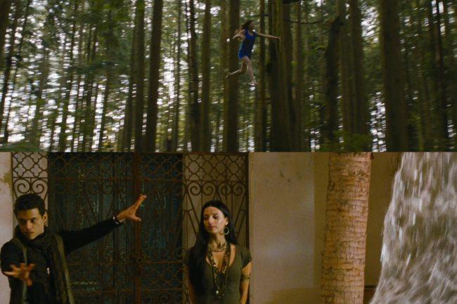 Dos escenas de los vampiros luciendo sus habilidades