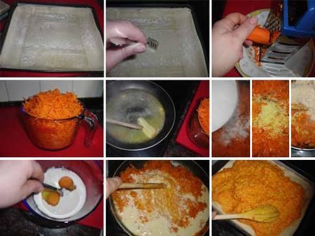 Preparación del pastel de zanahoria