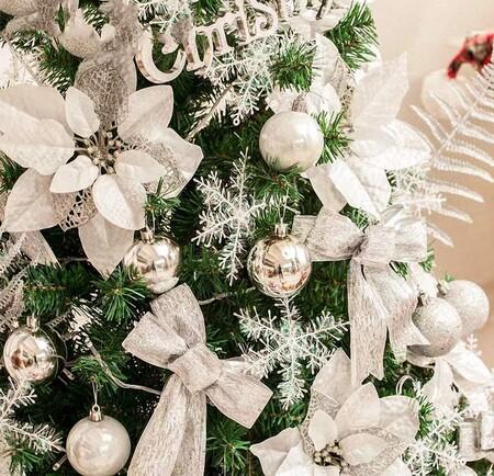 Set De 24 Bolas De Navidad En Color Plata