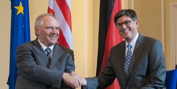 Wolfgang Schauble y Jack Lew