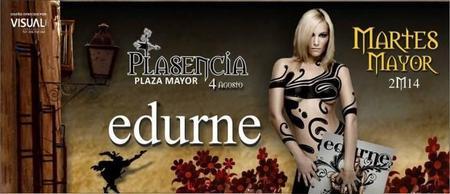 Plasencia: su fiesta grande ´Martes Mayor` trae a Edurne gratis con un concierto