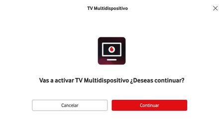 Solicitando la activación de Vodafone TV Multidispositivo