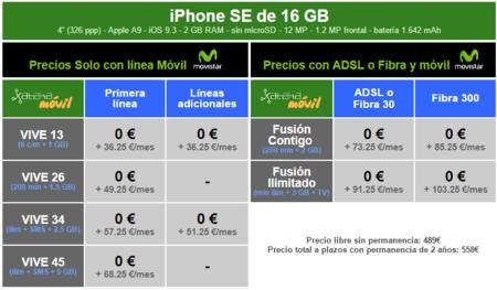 Precios Iphone Se 16gb Con Tarifas Movistar