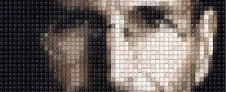 Imagen de la semana: el retrato de Jobs realizado con teclas