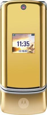 Motorola KRZR, rojo para Canadá y oro para Hong Kong