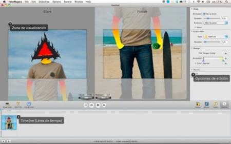 FotoMagico Interfaz aplicación