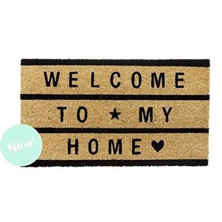 Haz Clic Para Obtener Una Vista Ampliada Dcasa Felpudo De Fibra De Coco Welcome To My Home Negro 40x7051ziiavxf4l
