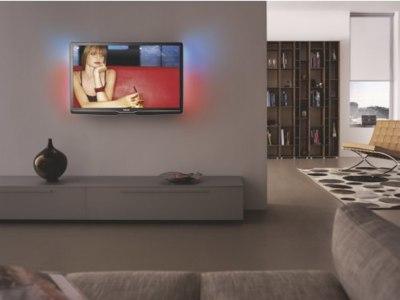 Televisores Philips serie 9600 y 9700, delgados, de aluminio y con controles táctiles