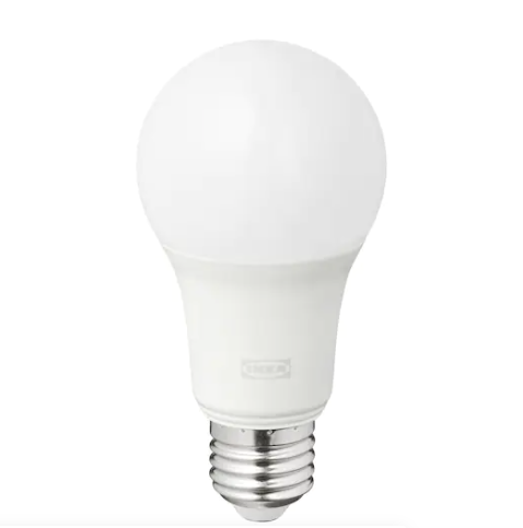 Bombilla LED E27 806 lúmenes, regulación luminosidad inalámbrica color y espectro blanco/globo blanco ópalo