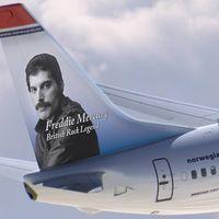 Una aerolínea le dedica dos aviones a la estrella del rock Freddie Mercury