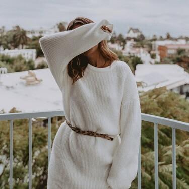 Nueve vestidos blancos muy calentitos para deslumbrar con este color también en invierno