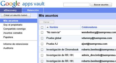 Google Vault, la herramienta para mantener la seguridad de documentos en Google Apps