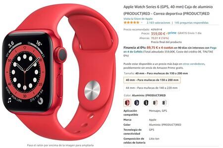 Apple Watch Series 6 Oferta Amazon