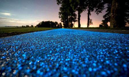 Carril Bici Luz Solar Y Brilla En La Oscuridad 2