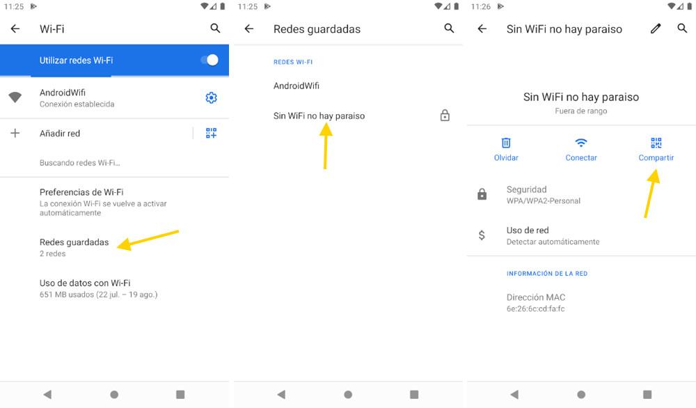 Así podés ver las contraseñas guardadas del Wi-Fi en Android sin Root