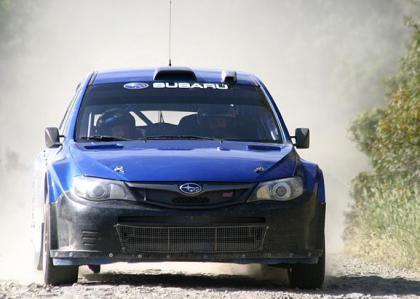 Primera toma de contacto de los pilotos con el nuevo Impreza WRC