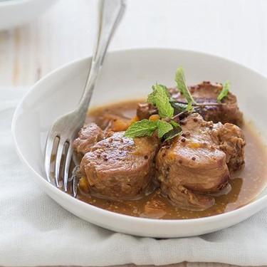 Solomillo de cerdo a las tres salsas. Receta