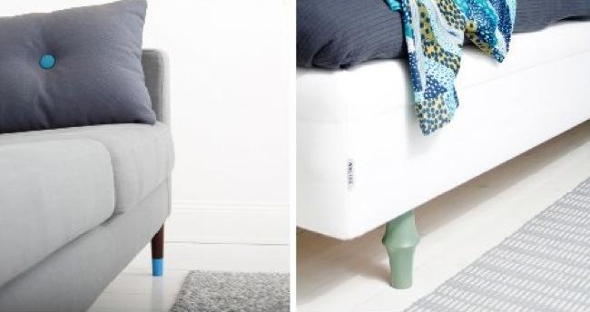 Prettypegs patas de colores para dar un toque alegre a - Patas para muebles ikea ...