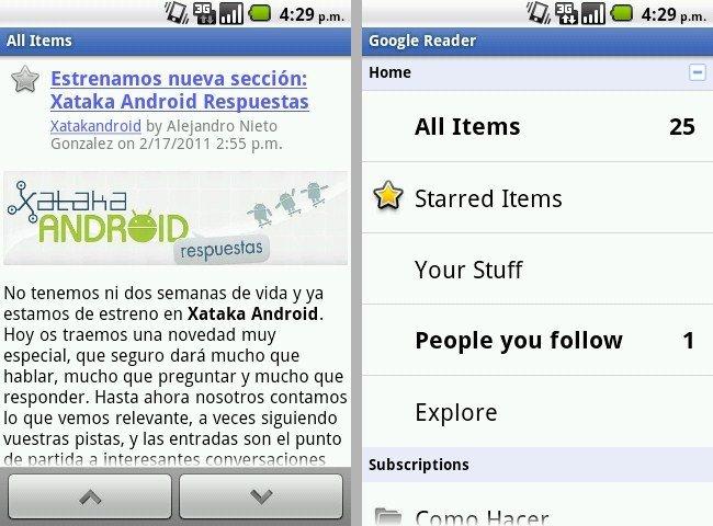 Screen de Reader para Android