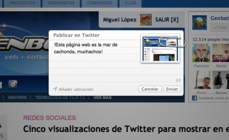 apple mac os x mountain lion safari twitter compartir