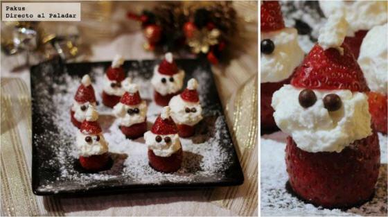 Santa Claus de fresa y nata