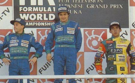 Podio GP Japón 1990