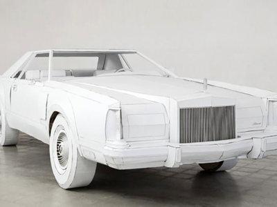 Me puse a hacer figuritas de papel y acabé haciendo un Lincoln a tamaño real