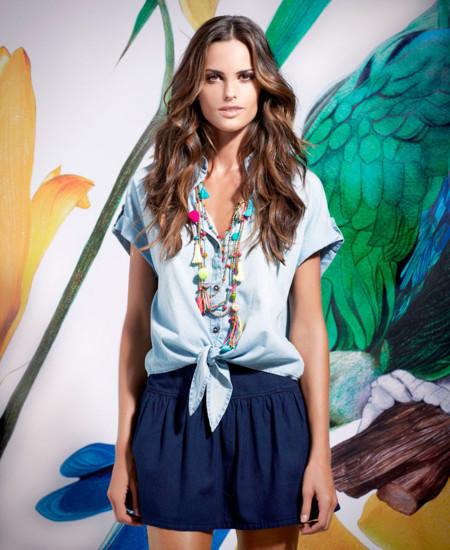 Blusa anudada SuiteBlanco Primavera –Verano 2014
