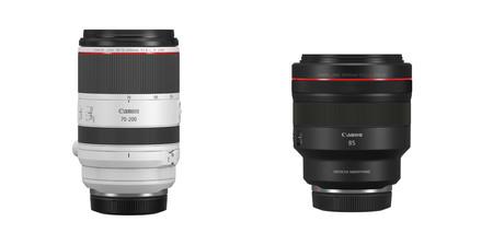 Canon amplía su sistema EOS R con dos nuevos objetivos: el RF 70-200 mm f/2,8L IS USM y el RF 85 mm f/1,2L USM DS
