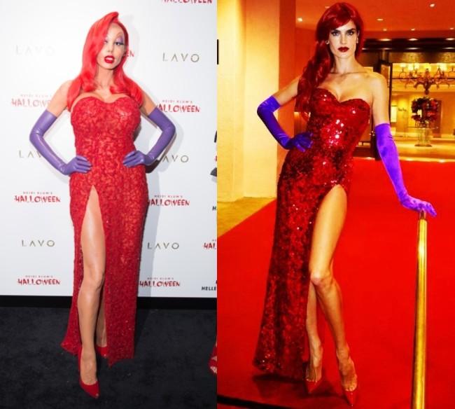 Halloween nos trae un duelo de estilo muy Jessica Rabbit: ¿Heidi Klum o Alessandra Ambrosio?