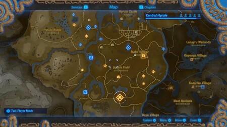 Hyrule Warriors Botw Map Screencap 100720