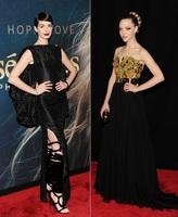 Anne Hathaway y Amanda Seyfried, dos looks opuestos sobre la alfombra roja de Los Miserables